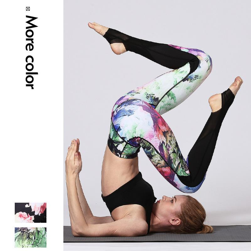 Women Yoga Pants Slim Fitness Leggings Running Sport Pants Gym Yoga Bottoms Leggings Sportswear Tights Jogging Running Pant