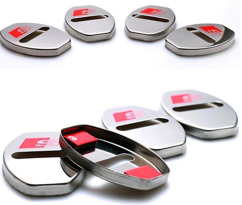 4 UNIDS / Set Nueva Llegada del coche Cerradura de la puerta cubre la protección de la caja anticorrosiva para AUDI A1 A3 A4 A5 A7 A8 Q3 Q5 Q7 car styling