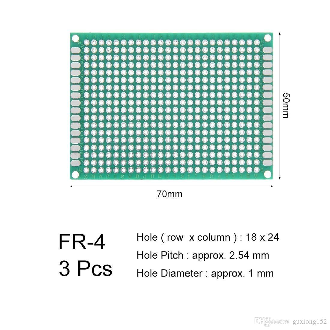 5x7mm Double Sided Prototype Pcb Print Circuit Board Universal Details About 12 Pcs Kit Prototyping Printed Breadboard 14