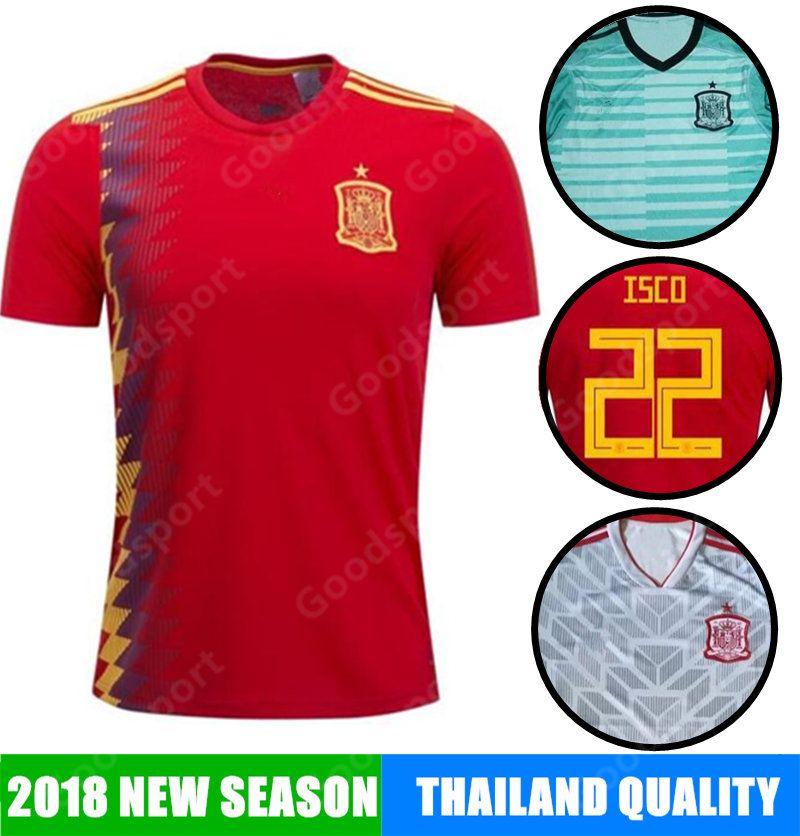 391d59d58 2018 Spain Soccer Jersey 17 MORATA ISCO ASENSIO RAMOS SILVA PEDRO ...