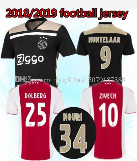 7bab9470d 2018 2019 Ajax Blacker Soccer Jersey 18 19 Ajax FC Soccer Jerseys ...