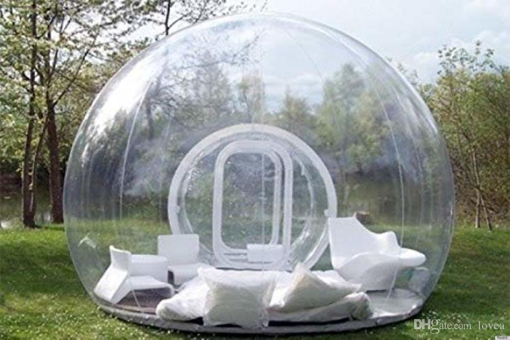 outlet store a5c63 d976b Stargaze Outdoor Single Tunnel Inflatable Bubble Camping Tent Electric air  blower outdoor PVC inflatable transparent bubble camping clear