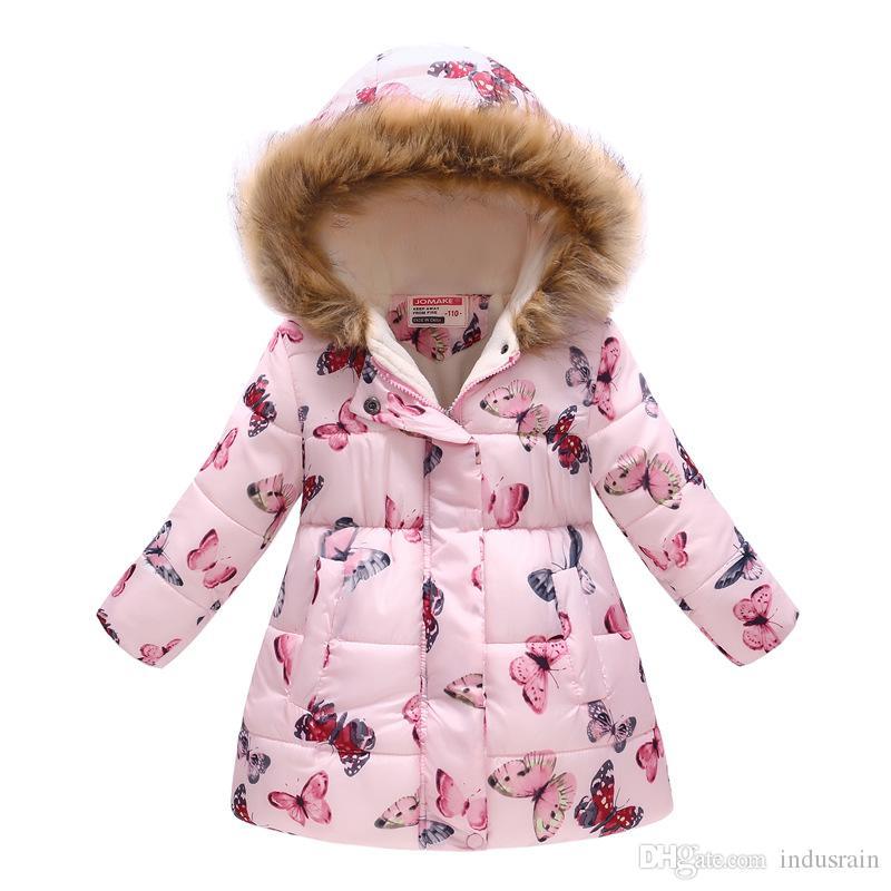 super popolare b8079 c073a Giacche Invernali Per Bambina Cappotti Cotone Con Cappuccio Bambina  GiaccaCappotto Per Bambini Abbigliamento Maniche Lunghe Per Bambini  Capispalla