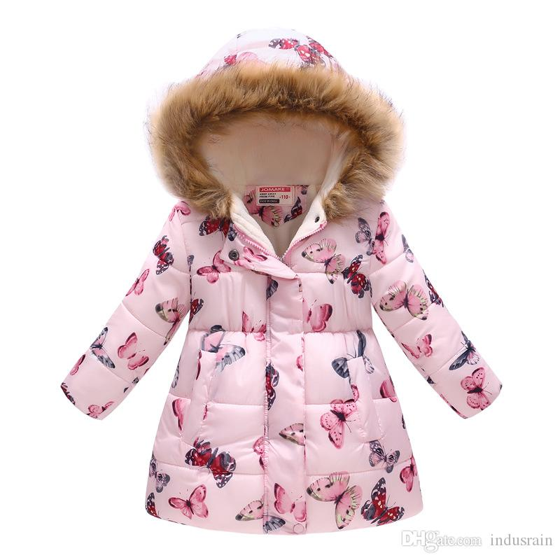 f580988ce Winter Jackets For Girls Coats Cotton Hooded Baby Girl Jacket Coat ...