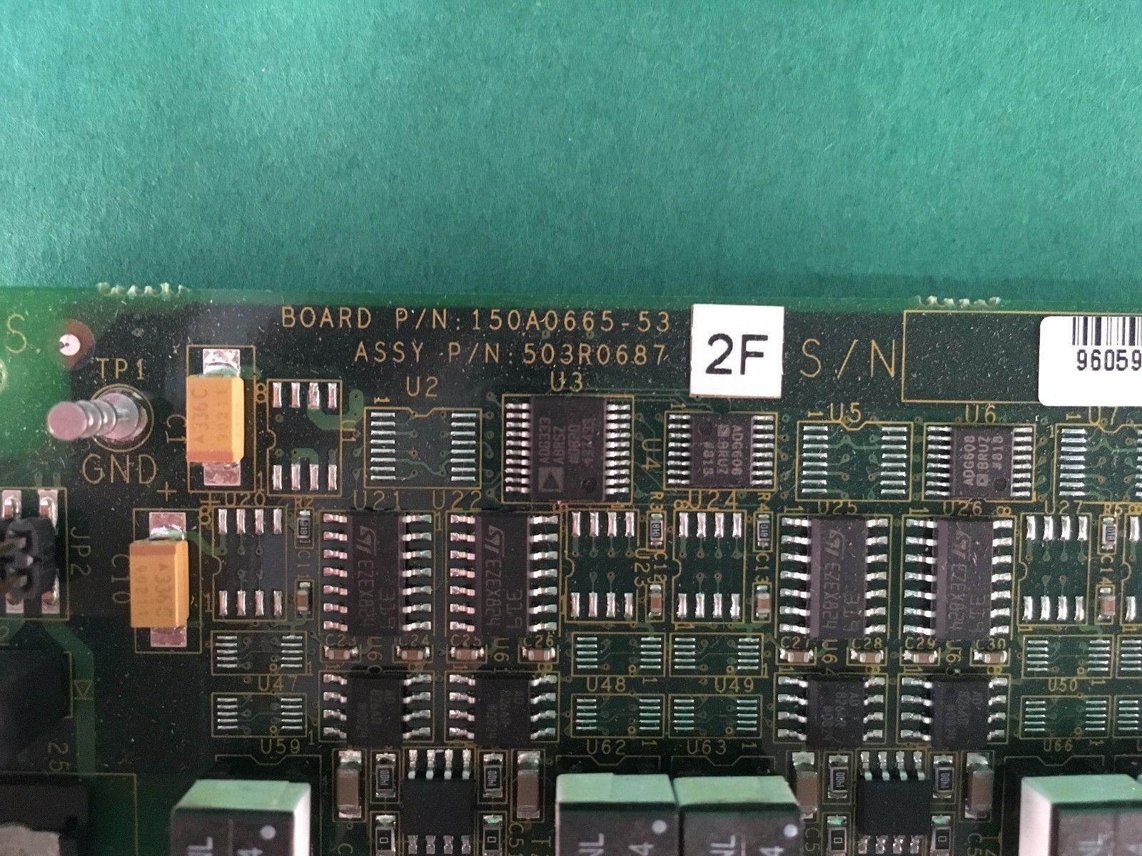 Scheda attrezzature industriali 150A0665-53 503R0687 961954-010