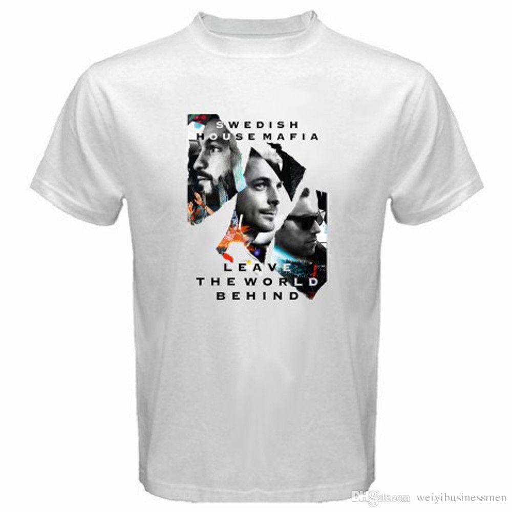 23b68b4d6ac51 Movie T Shirts Short Crew Neck New Swedish House Mafia Leave The World  Behind Men'S White T Shirt Size S 3XL Printed Mens Tee Really Cool  Sweatshirts The ...