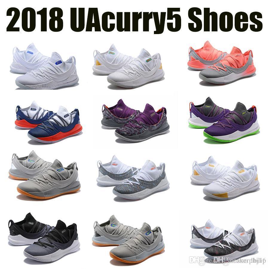2018 Sommer goldene Basketballschuhe Männer Stephen Curry 5 draußen neue unter Markenpanzer niedrig drinnen A +++ Top Qualität laufenden Frühling