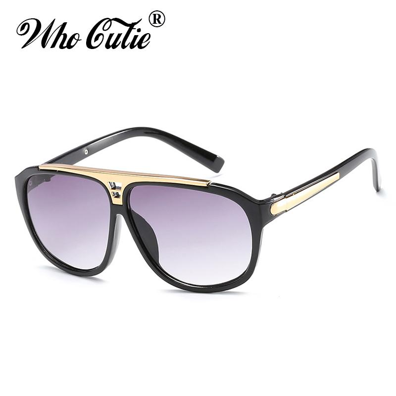 177744afec883 Compre OMS CUTIE Piloto Óculos De Sol Dos Homens De Design Da Marca De Alta  Qualidade Moldura De Ouro Moda Sunnies Retro Vintage Óculos De Sol Masculino  ...