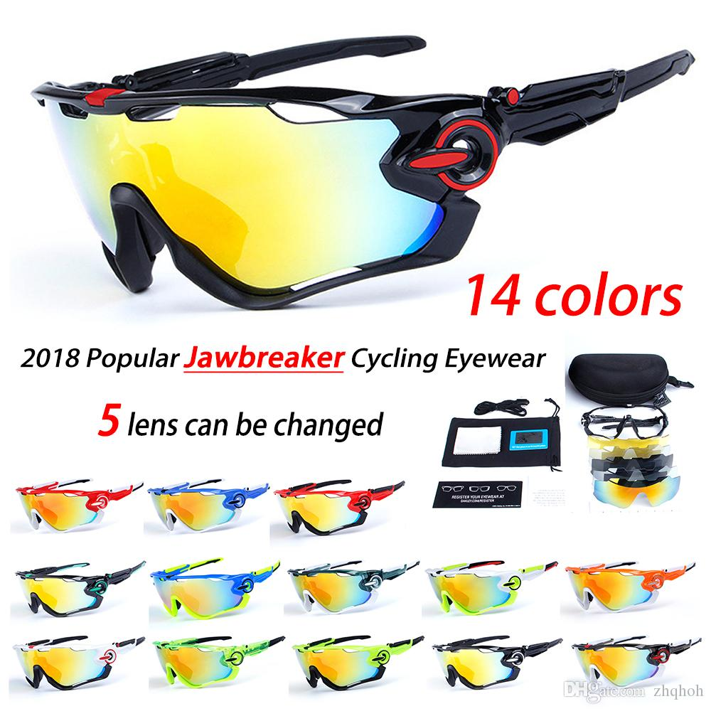 57f6daeb989 2019 2018 Polarized Brand Cycling Sunglasses Racing Sport Cycling Glasses  Mountain Bike Goggles Interchangeable 5 Lens 29g 9270 Cycling Eyewear From  Zhqhoh