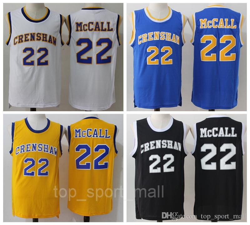 59be2fe026ab 2019 2016 CRENSHAW 22 Quincy McCall Jersey Movie Flint Tropics Semi Pro Quincy  McCall Basketball Jerseys Sport Breathable Yellow White Black Blue From ...