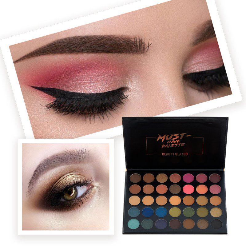 Set De Maquillaje De Sombras Paleta De Ojos Profesional