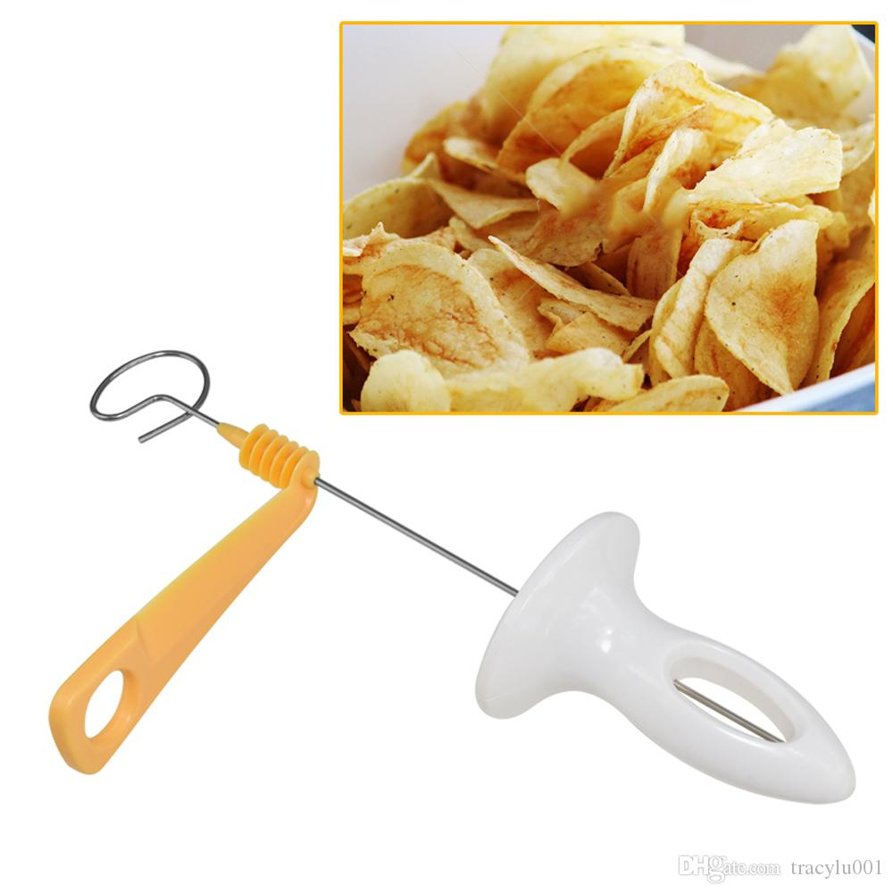Delidge 3 string Rotate Potato Slicer Stainless Steel +Plastic Twisted Potato Slice Cutter Spiral DIY Manual Creative