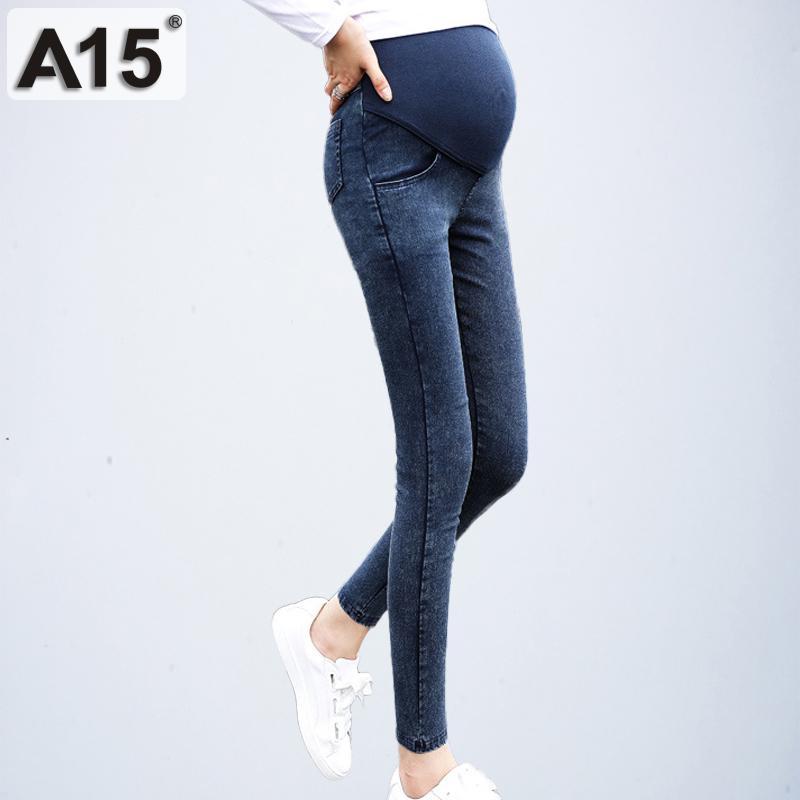 e83adeb43 Compre Pantalones Vaqueros De Maternidad Para Mujeres Embarazadas Embarazo  Primavera Otoño Pantalones Jean Ropa De Maternidad Para Mujeres Embarazadas  ...