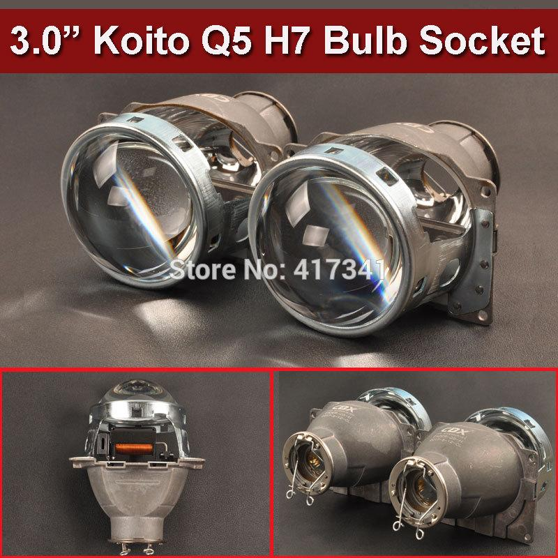2019 Car Styling Projector Lens 3 Inches Q5 Koito Bi Xenon Hid Bi