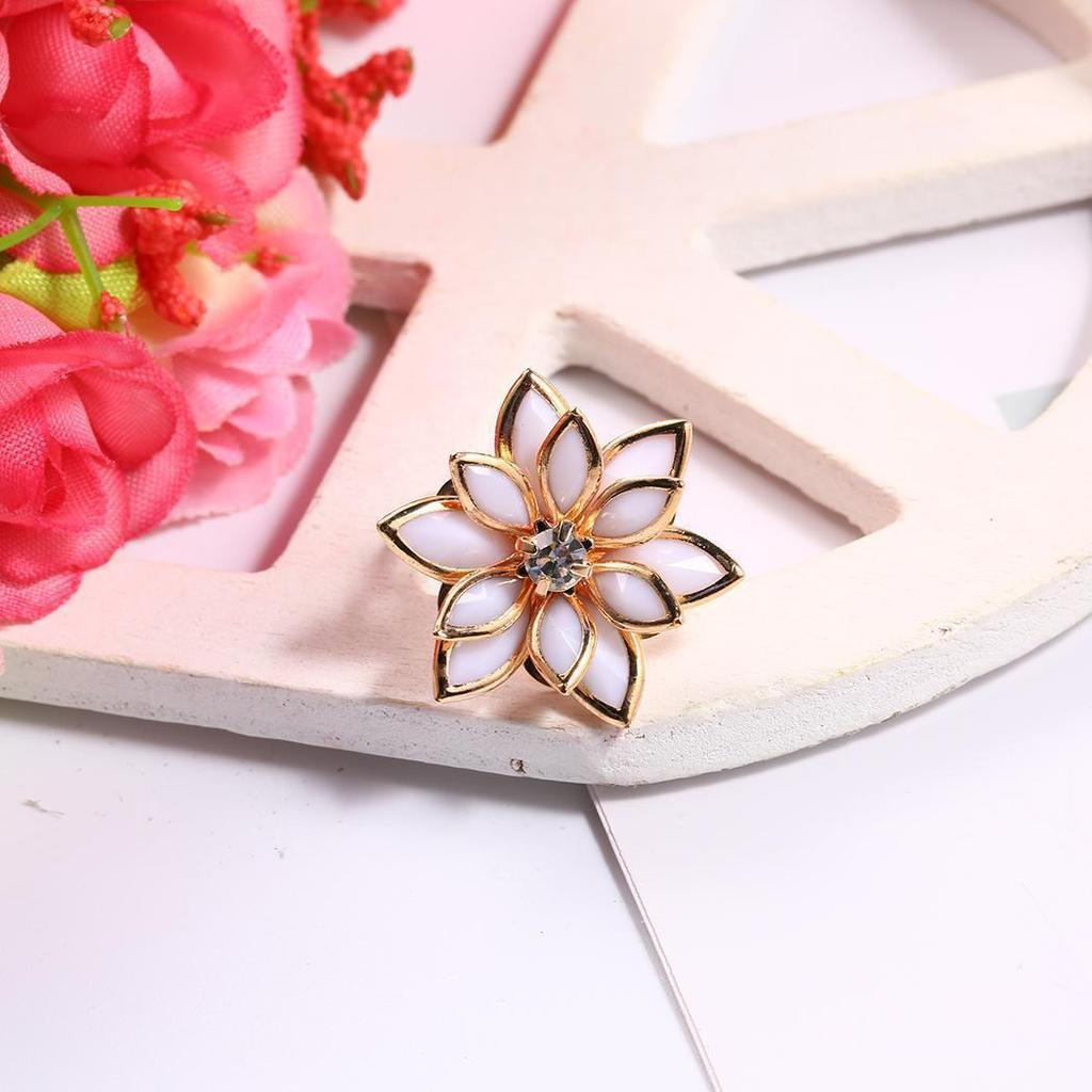 2018 Women Romantic Snow Lotus Flower Water Lily Adjustable Cubic