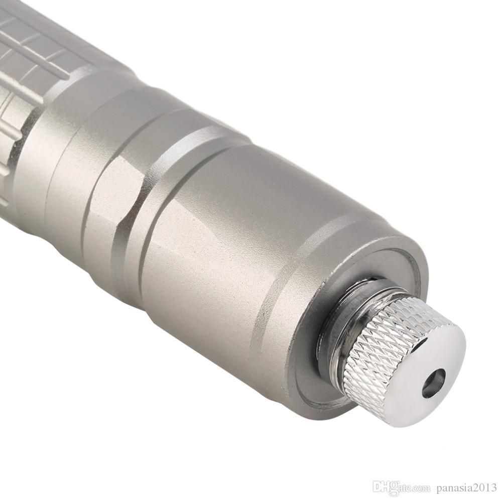 Nouvelle Arrivée Professionnel Étanche Vert Lumière Laser Pointeur Stylo Argent Noir Corps Laser Meilleur que SD 303 Laser Visible Faisceau en gros