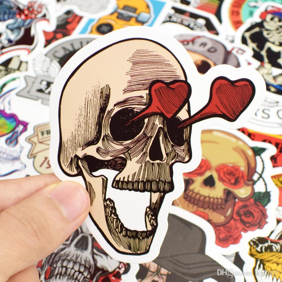 Punk Skull Vinyl Stickers Bomb Horror Doodle Car Decals Waterproof for DIY Laptop Skateboard Guitar Bicycle Motorbike Decoration Gifts