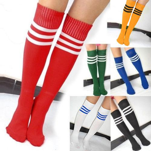 8f605cca084 2019 NEW Ladies Women Referee Stripe Knee High Socks Fancy Dress Long White  Black From Bishops