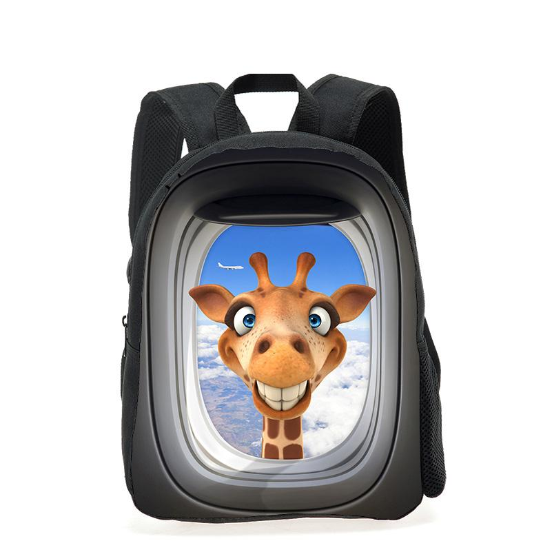 Cool 12 Inch Children Backpacks 3D Animal Giraffe Printing School Backpack  For Girls Mini Kids Rucksack Boys Kindergarten Bags Cheap Childrens  Backpacks ... a1a739fb5b