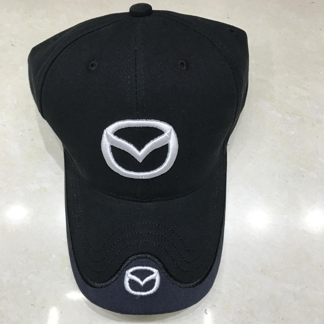 2018 New Pattern Auto Logos Hats Mazda LOGO Repair Staff Hat Racing  Baseball Hat High-end Cotton Sun