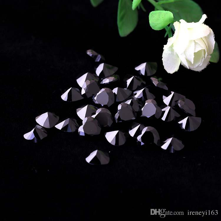 Black CZ 3-8mm Heart Shape Cubic Zirconia Machine Cut Synthetic Loose Stones For Jewelry Setting Free Ship