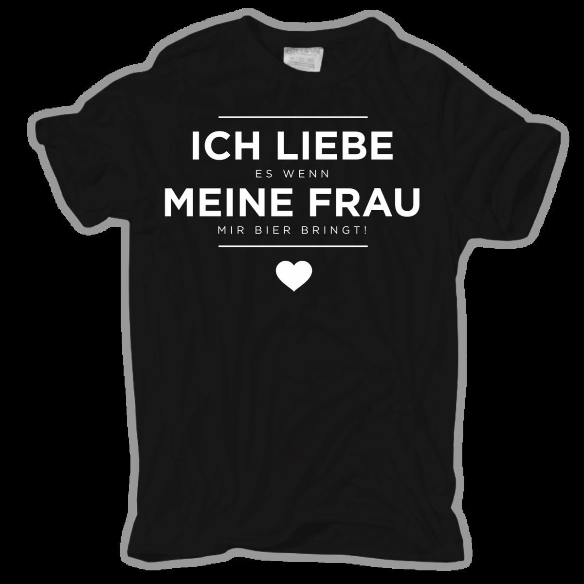 28d49eb9a058c T Shirt ICH LIEBE Es Wenn MEINE FRAU Mir Bier Bringt Vatertag Geschenk  Normal Short Sleeve Cotton T Shirts Animal Funny T Shirts For Sale Awesome T  Shirt ...