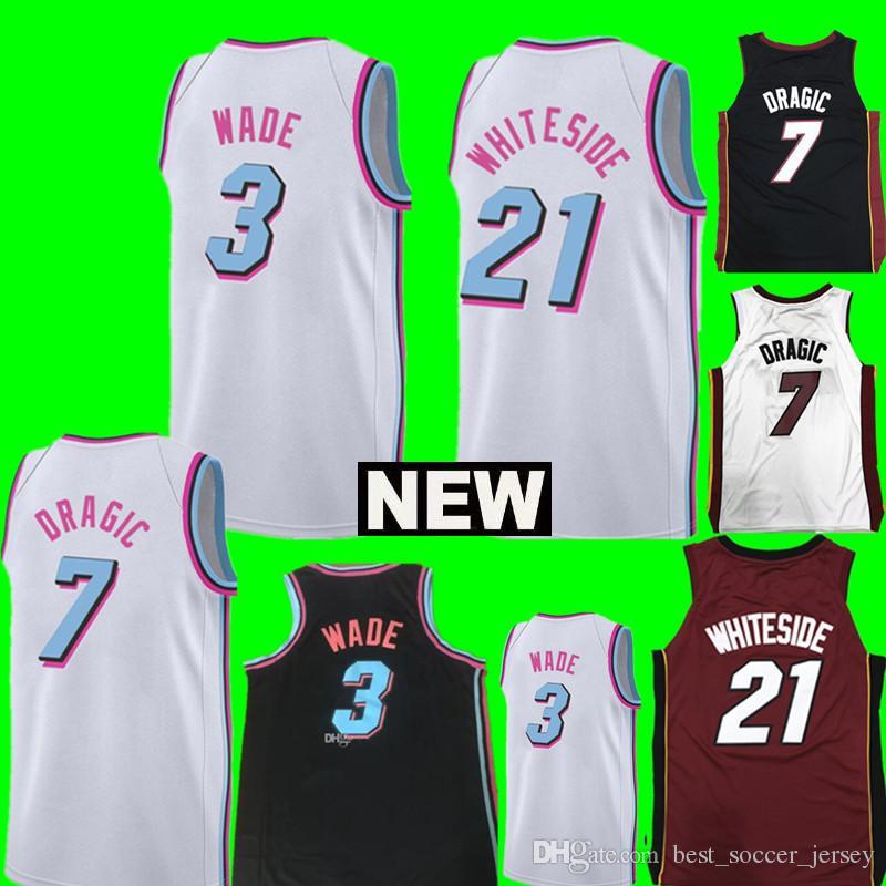 f0d9515c0 ... get 3 dwyane wade jersey mens miami heat 7 goran dragic 21 hassan  whiteside basketball jerseys