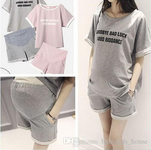 9b2377243c2 2019 2018 Summer  Sets Lovely Pregnancy Woman Home Clothes Cotton Clothes  For Pregnant Women Loose Breathable Maternity Suits From Babykids house
