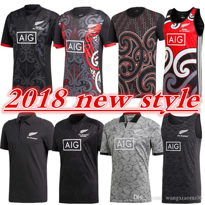 d0b664fa 2019 2018 Maori All Blacks Jersey ALL BLACKS POLO SHIRT BLACK Singlet Size S  3XL WESTS TIGERS TRAINING SINGLET 2018 South Africa HOME JERSEY From ...