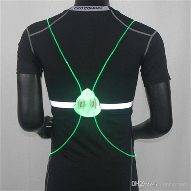 Sports Led Running Vest Optical Fiber Removable Night Riding Luminous Moisture Proof Reflective Vests With Multi Color 26sy jj