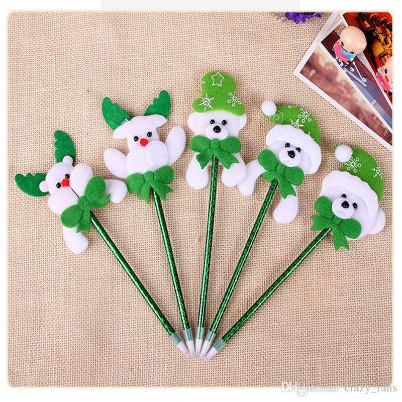 Colorful Christmas Ballpoint Pen Cute Pvc Ornaments Decorations Party Decoration Gift Office School Writing Supplies Decorative