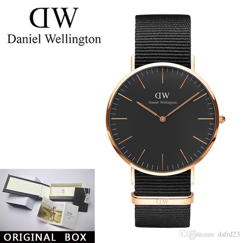 b810fef99434 New Fashion Daniel W- Watches 40mm Men Watches 2018 Women Watches Luxury  Brand Famous Quartz Watch Clock Relogio Feminino Montre Femme Gift Online  with ...