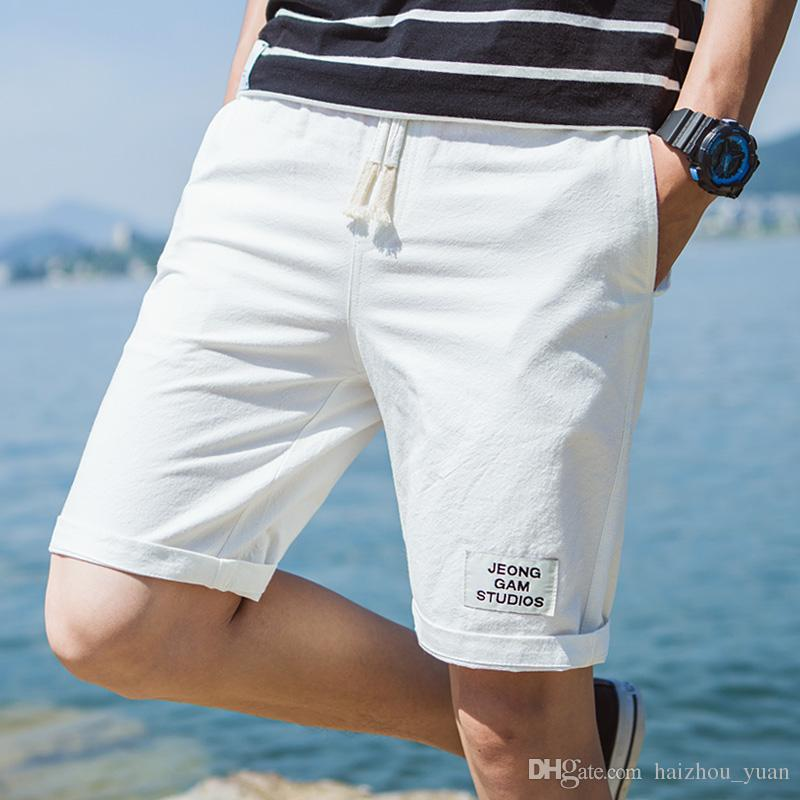 af1012a4658 2019 Men S Cotton And Linen Pants Men Summer Sports Beach Pants Tide Casual  Linen Large Size Shorts S 5XL From Haizhou yuan