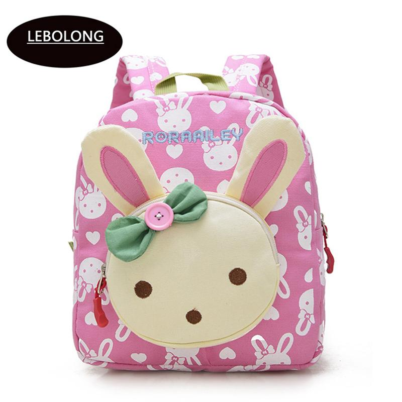 d34b470bc8 Kid Backpack Cute Cartoon Little Rabbit Bear Baby Kindergarten Bag High  Quality Oxford Fabric Knapsacks Mini Toddler Book Bag Y18110107 Sale On  Backpacks ...