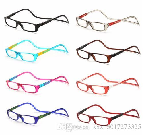 30716b40568 2018 Upgraded Unisex Magnet Reading Glasses Men Women Colorful Adjustable  Hanging Neck Magnetic Seven Colors Front Presbyopic Glasses Reading Glasses  ...