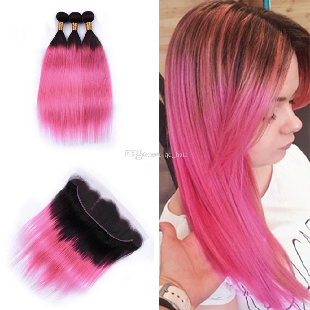 2019 year style- Hair ombre pink
