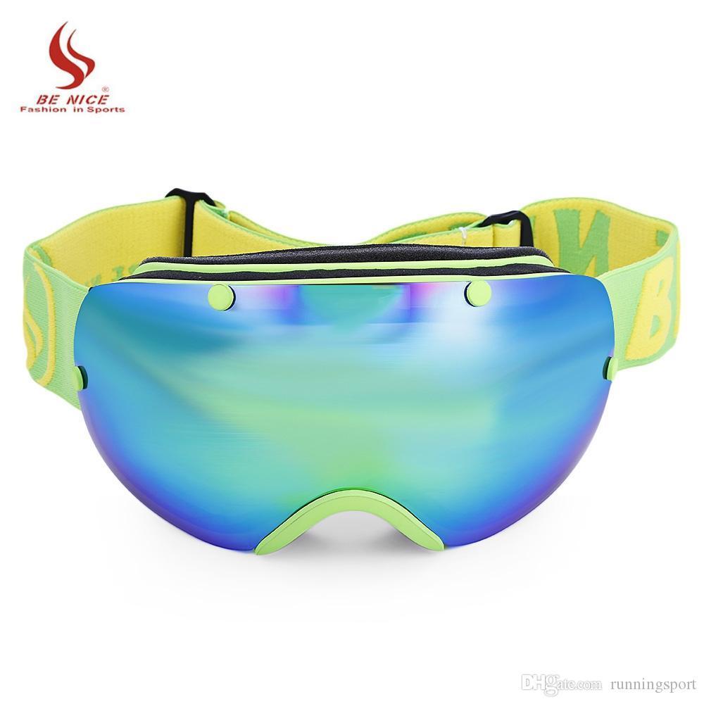 b9d826f221e BENICE Men Women Ski Goggles Glasses Unisex Spherical Anti-Fog ...