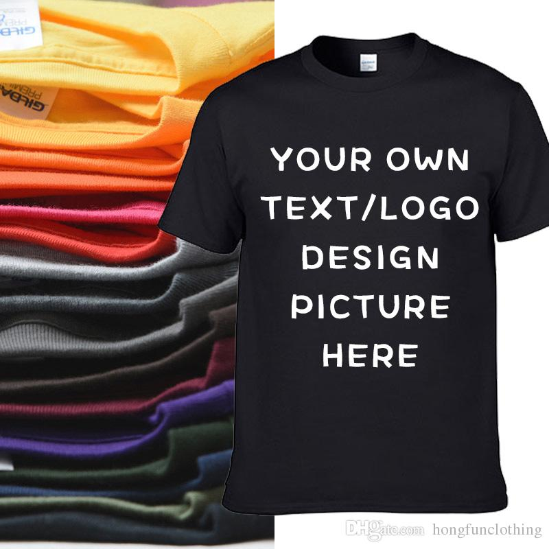 CUSTOM MADE MEN S 100% COTTON T-SHIRT BIG SIZE PERSONALIZED PRINT ON DEMAND  TOPS TEES WITH OWN DESIGN HFCMT052