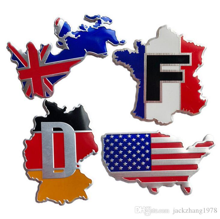 France Map Flag.Uk Germany France Usa Flag Map England Territory Quality 3d Aluminum