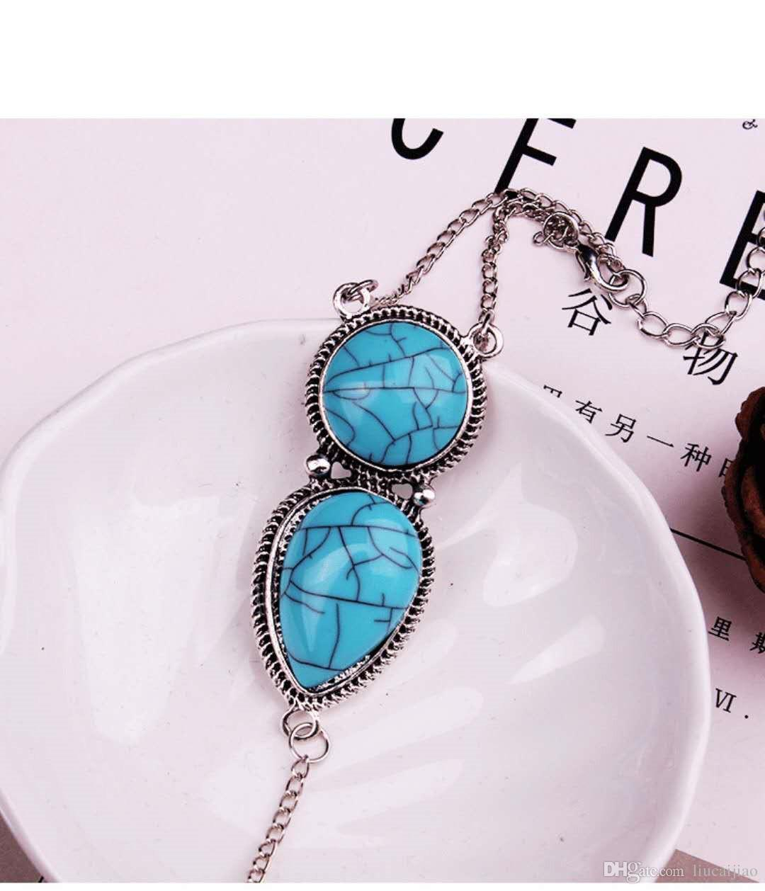 Turquoise Hot Turkish Bohemian Ethnic Vintage Silver Coin Finger Ring Anklet Wire Bangle Bracelet