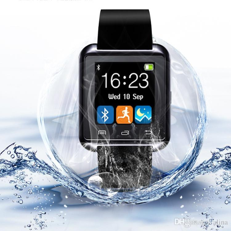 newest 8aef7 d37d6 Hot sale U8 Bluetooth Smart Watch Watch Wrist Smartwatch for iPhone 6 6S 6  plus Samsung S4 S5 Note 2 Note 3 HTC Android Phone Smartphones