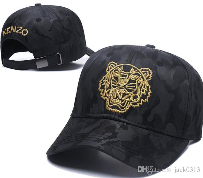 2910f918e7e35 2018 Designer Mens Baseball Caps New Brand Tiger Head Hats Gold Embroidered  Bone Men Women Casquette Sun Hat Gorras Sports Cap Flat Bill Hats Baseball  Hat ...