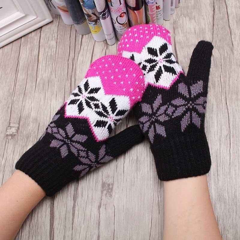 Großhandel Frauen Winter Gestrickt Dehnbar Bedeckt Finger Halter ...