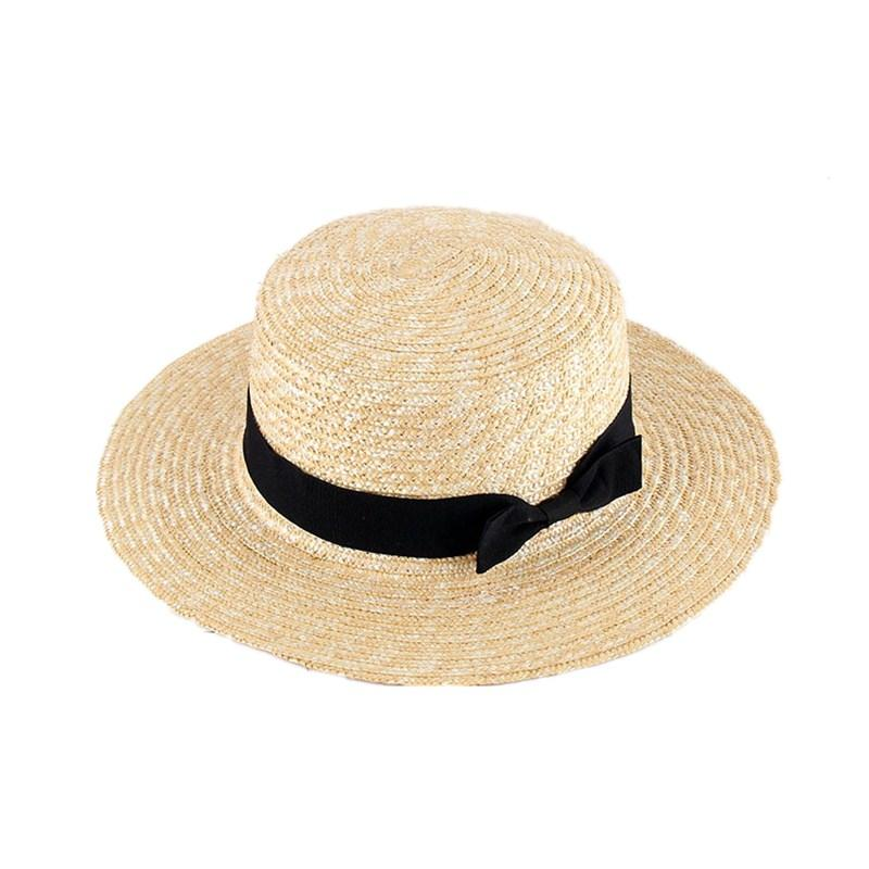 007e50b8292 Summer Rfaffia Hat For Women Beach Flat Straw Hats With Bow UV Protection  Large Wide Brim Sun Hats Wide Brim Fedora Summer Hat From Nectarine99
