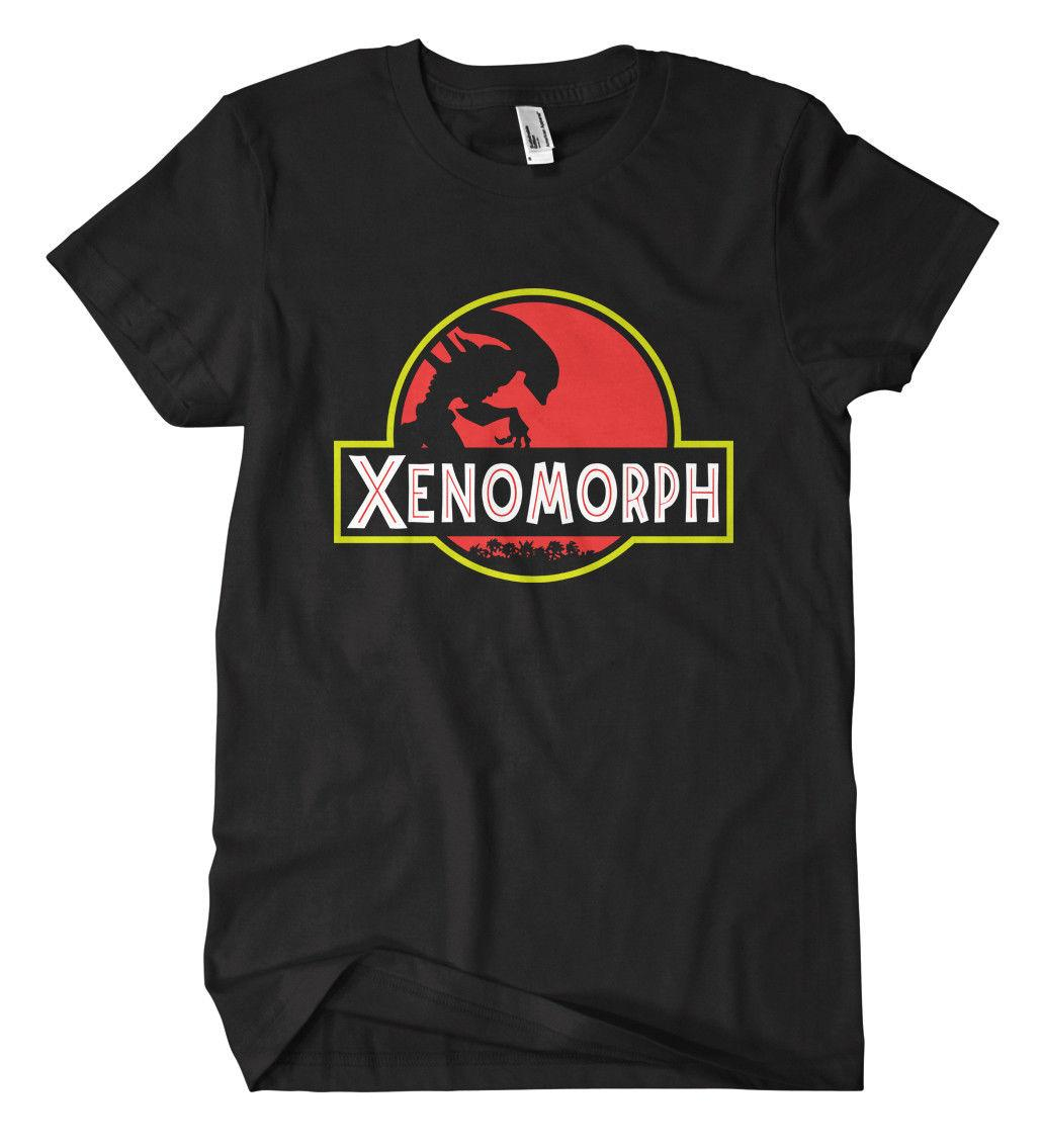Jurassic Xenomorph T-Shirt Alien Kult Monster Horror Predator Fun Fiction UFOFunny kostenloser Versand
