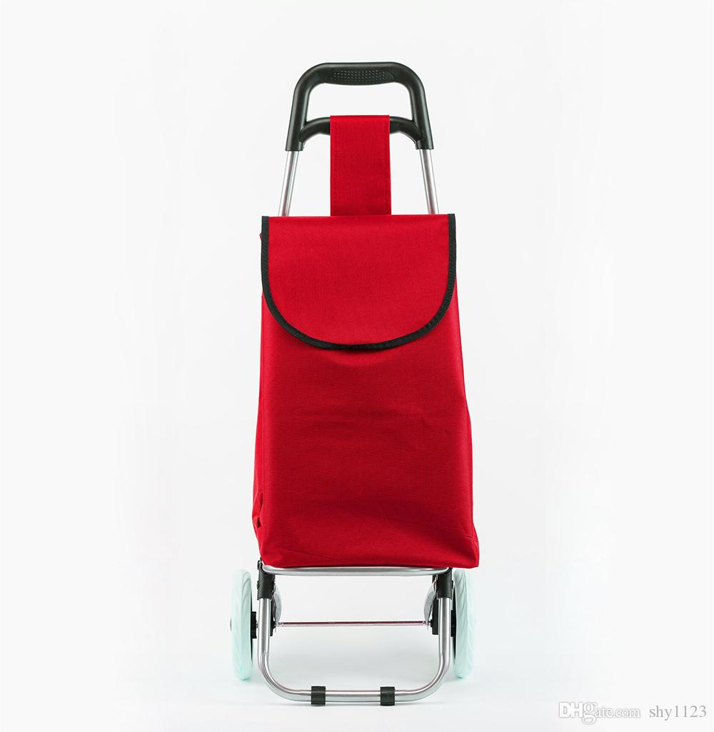 b939a9f40ae6 Spot wholesale Foldable Shopping Trolley Wheel lightweight Folding Bag  Traval Cart Luggage with new fashional style