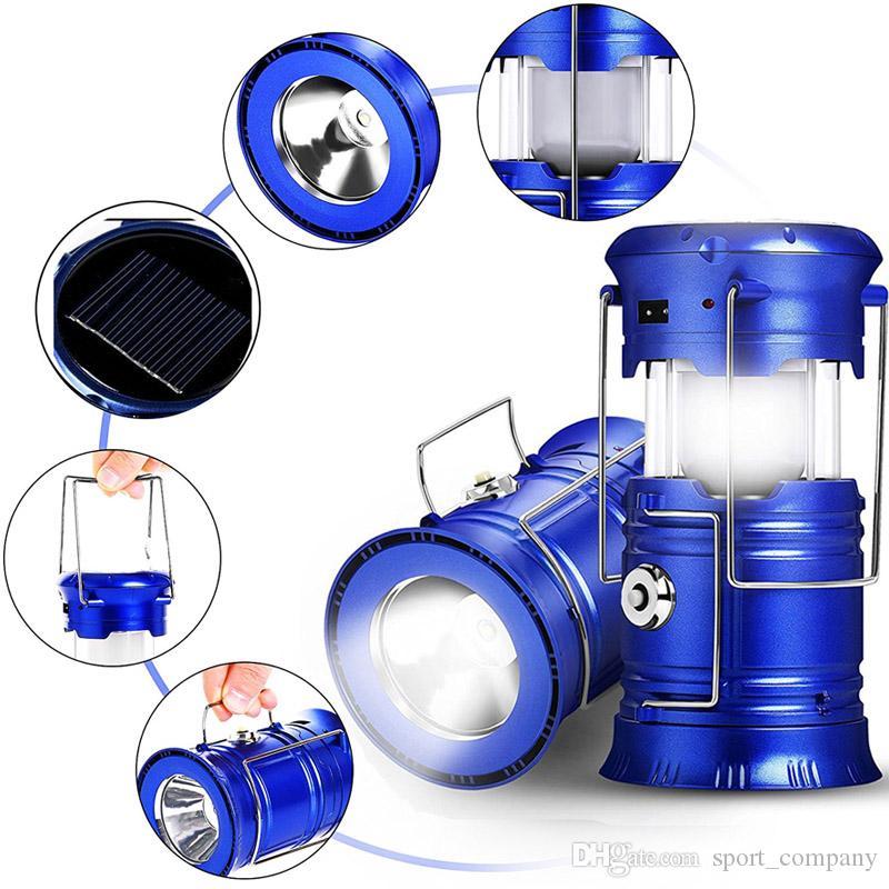Torche De Pour Pliable Portable Camping Lanterne Lampe Rechargeable AL35Rqjc4S