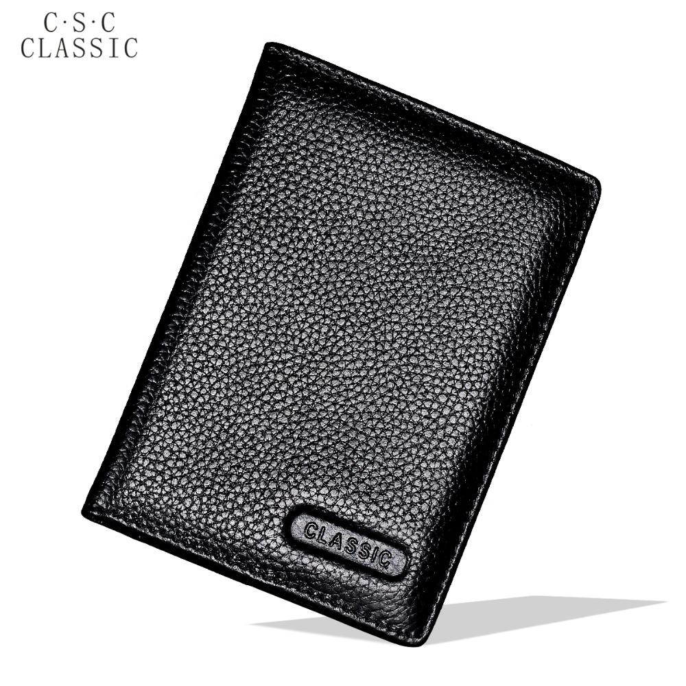 Black Real Cowhide Genuine Leather Passport Cover Holder Porta Pasaporte Postcards Passport Case Travel Card Wallet Car Covers