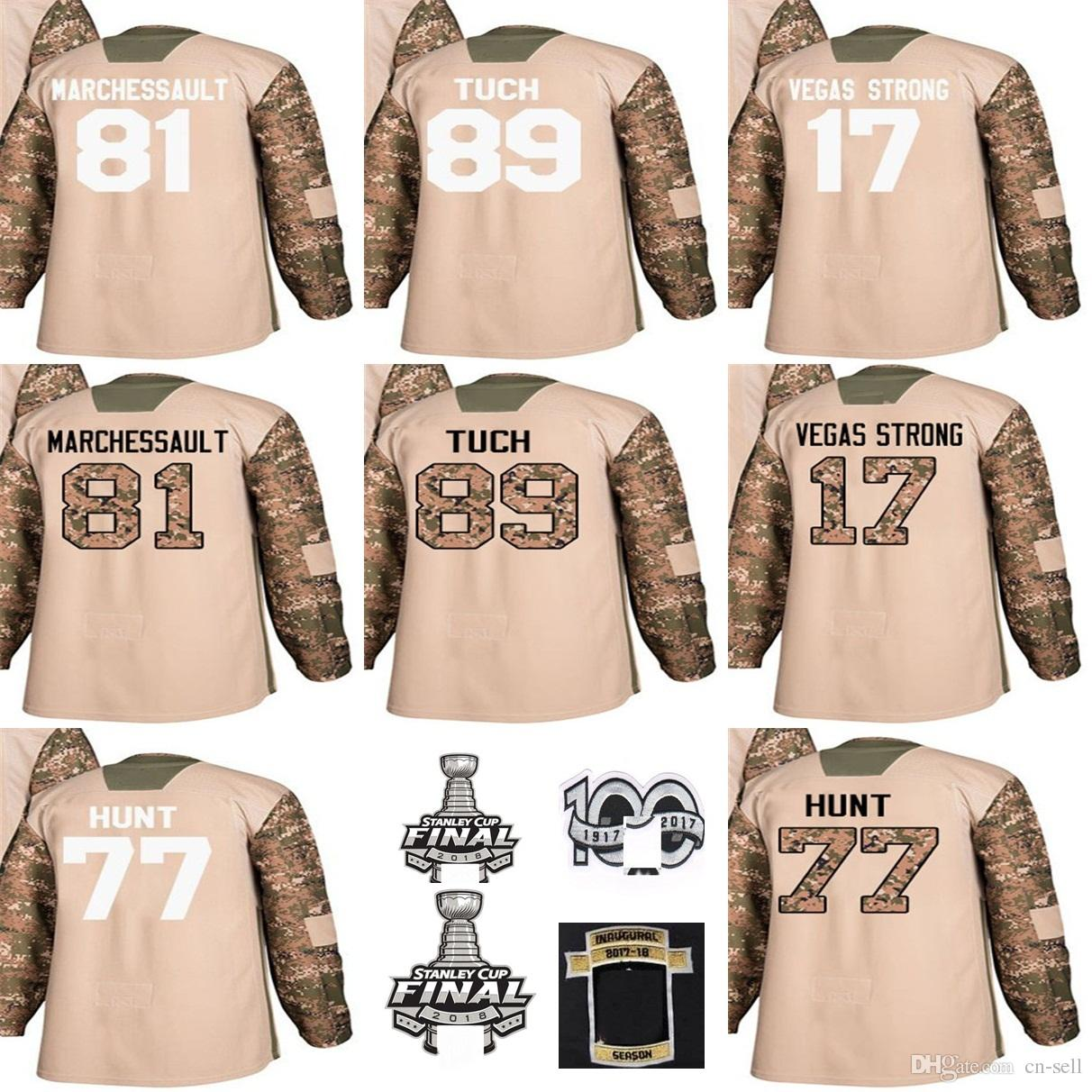 2019 Custom Any Name Any Number Mens 2018 Stanley Cup Final Patch 17 Vegas  Strong Jonathan Marchessault Alex Tuch 77 Brad Hunt Hockey Jerseys From Cn  Sell 185cc8f24