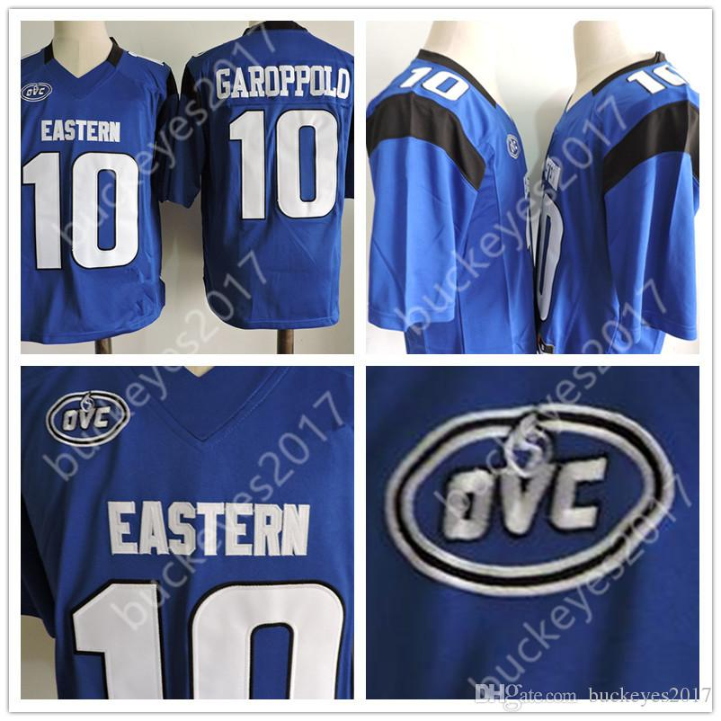 detailed look db2ed 16334 Eastern Illinois Panthers Hot Sale Free Shipping #10 Jimmy Garoppolo Blue  Stitched FCS NCAA College Jerseys S-3XL